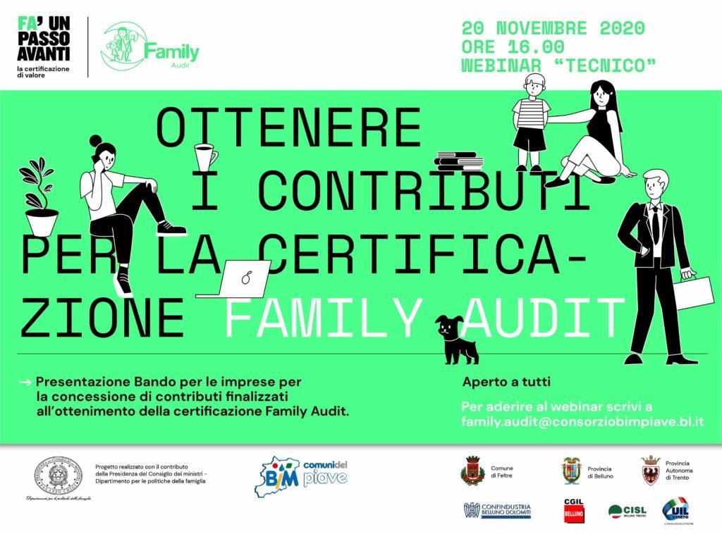 FamilyAudit Belluno webinar novembre 2020